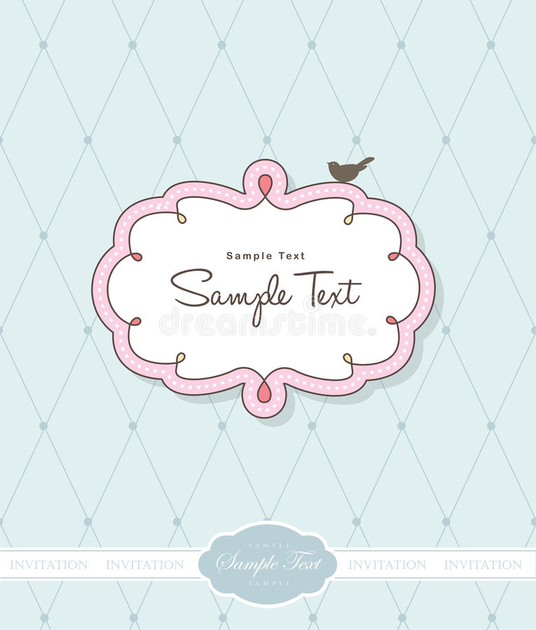 Download Greeting card stock vector. Illustration of banner, invitation - 17607073