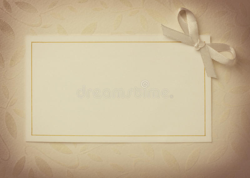 Greeting card. Close up of a greeting card with decoration royalty free stock photography