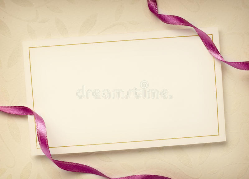 Greeting card. Close up of a greeting card with decoration stock photography