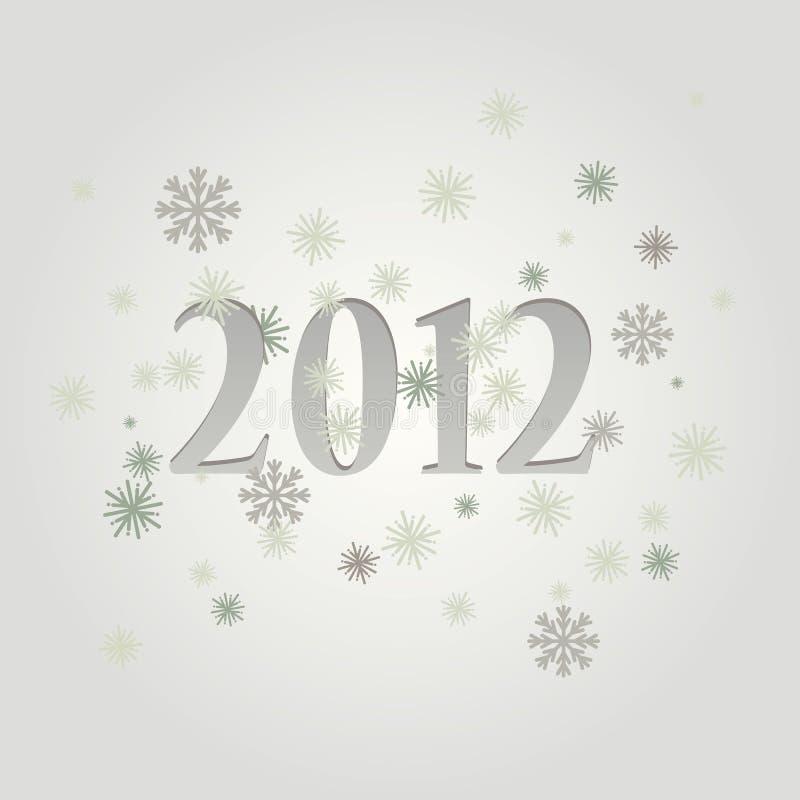 Greeting Card - 2012 Royalty Free Stock Image
