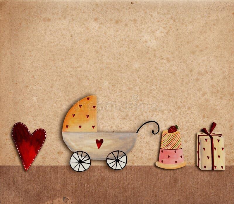 Download Greeting card stock illustration. Image of childhood - 20564389