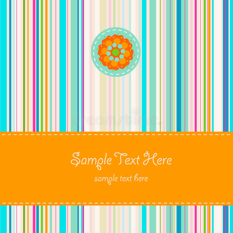 Download Greeting card stock vector. Illustration of stripes, background - 23506633