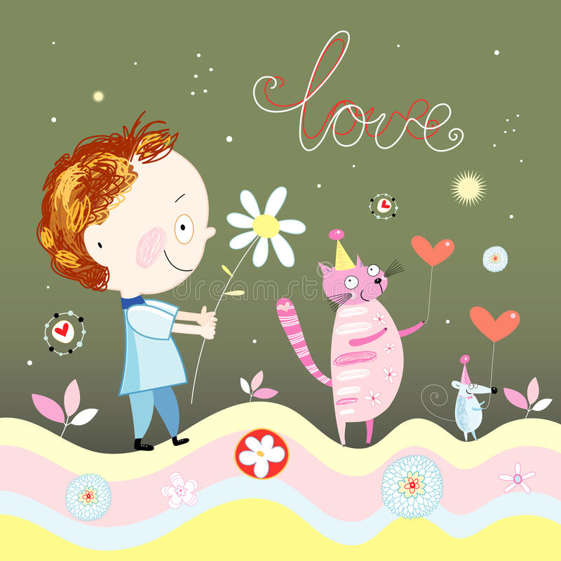 Greeting Card royalty free illustration