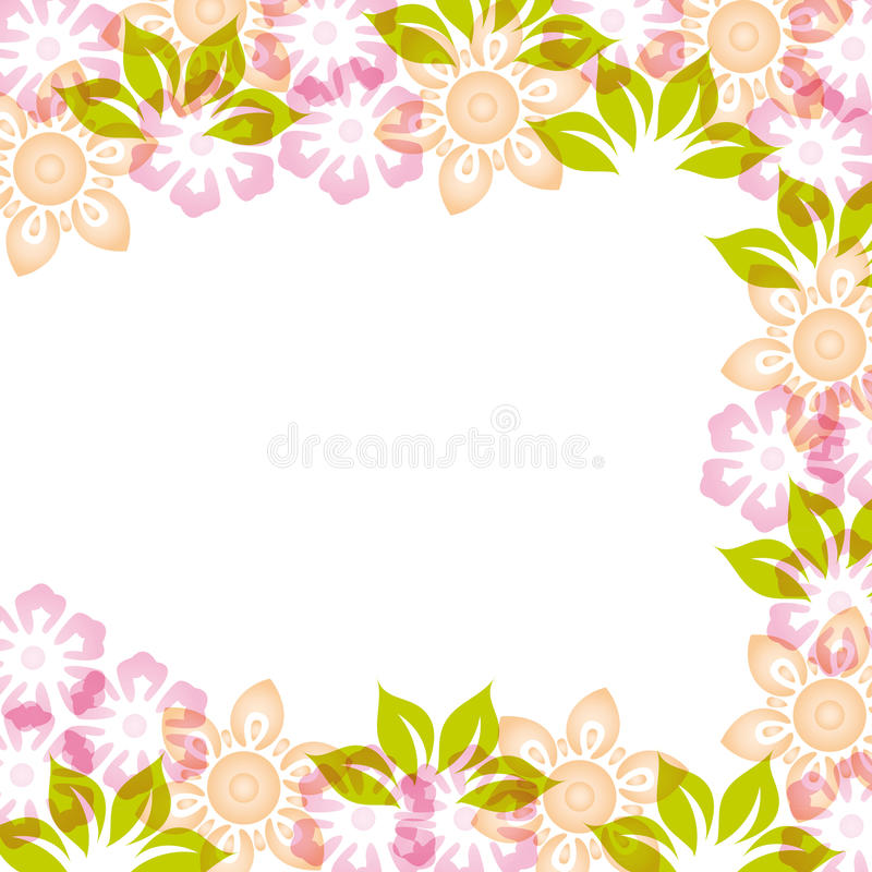Greeting card. Colorful card on a special occasion with flowers vector illustration
