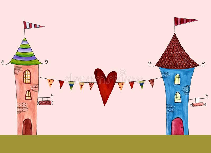 Download Greeting card stock illustration. Image of fairytale - 24613969