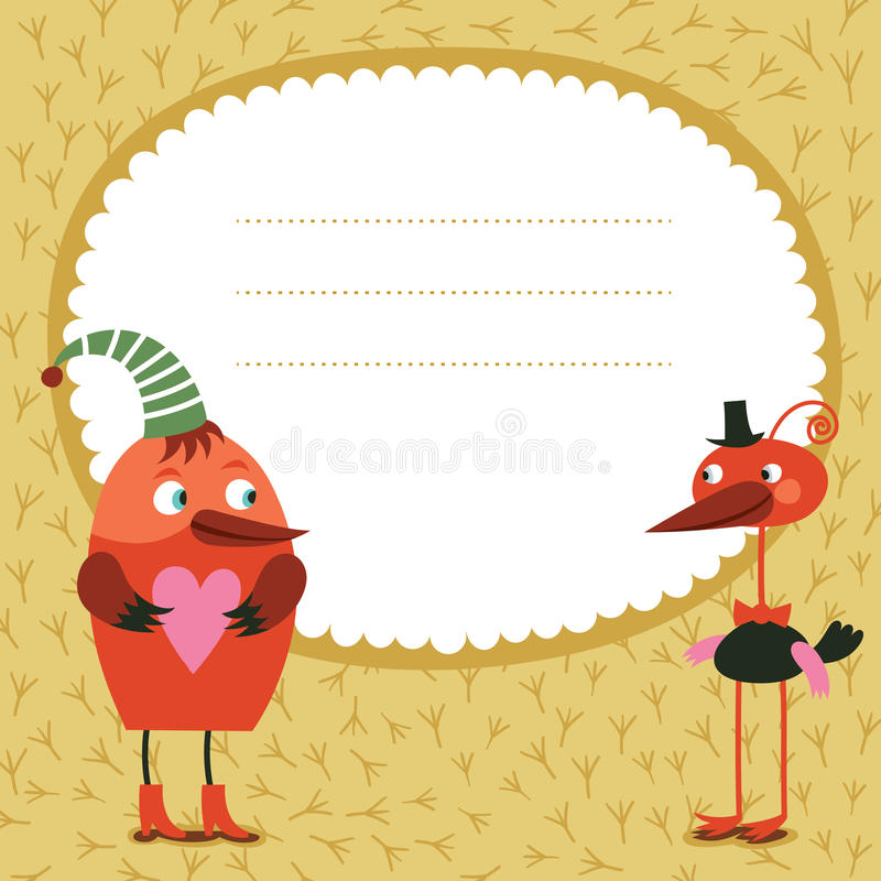 Download Greeting card stock vector. Illustration of beauty, border - 25846516