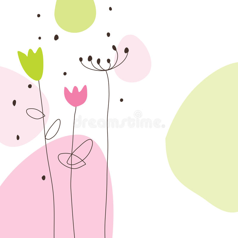 Greeting card vector illustration