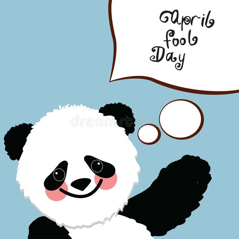 Greeting card of the April Fool`s Day vector illustration