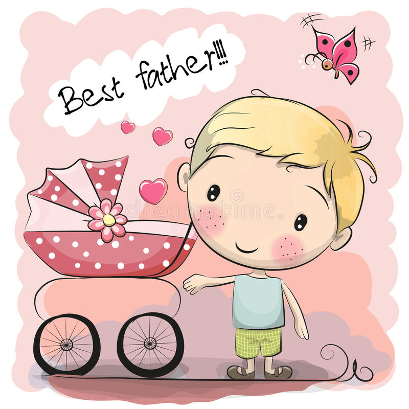 Greeting card Best Father vector illustration