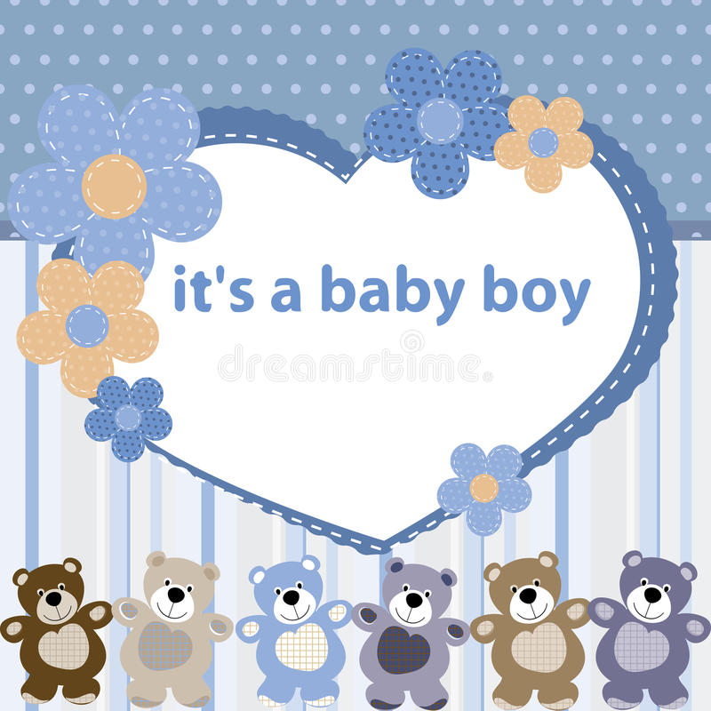 Greeting card with the birth of a baby boy stock vector download greeting card with the birth of a baby boy stock vector illustration of color m4hsunfo