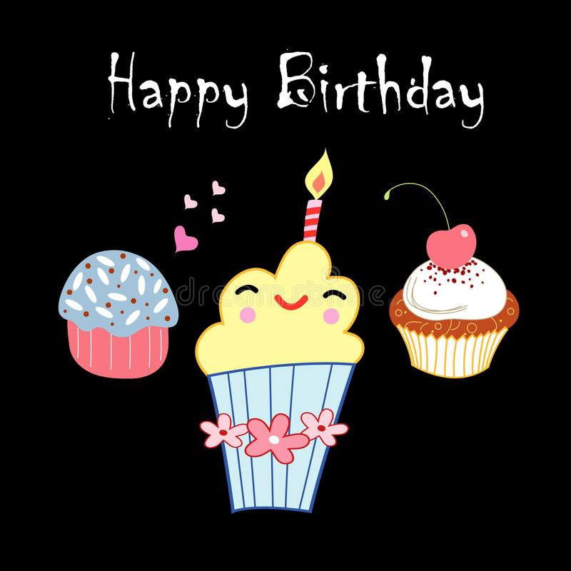 Download Greeting Card With A Birthday Cake Stock Illustration - Illustration: 28771218