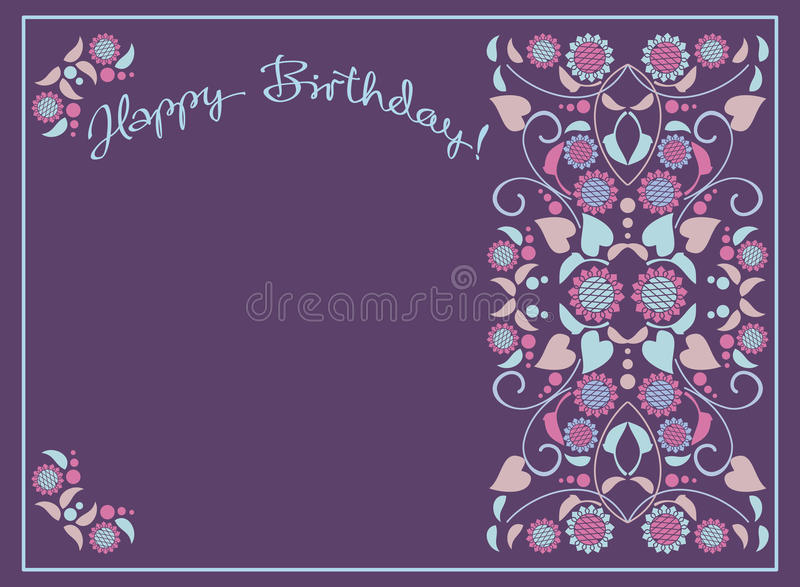 Greeting card for birthday royalty free illustration