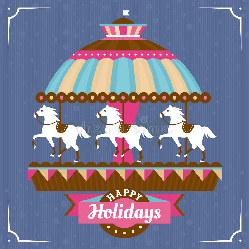 Download Greeting Card With Carousel Royalty Free Stock Photography - Image: 34692927