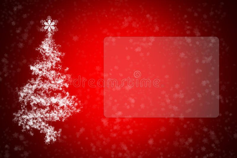 Greeting card with Christmas and New Year. With fir tree and snow royalty free stock photos