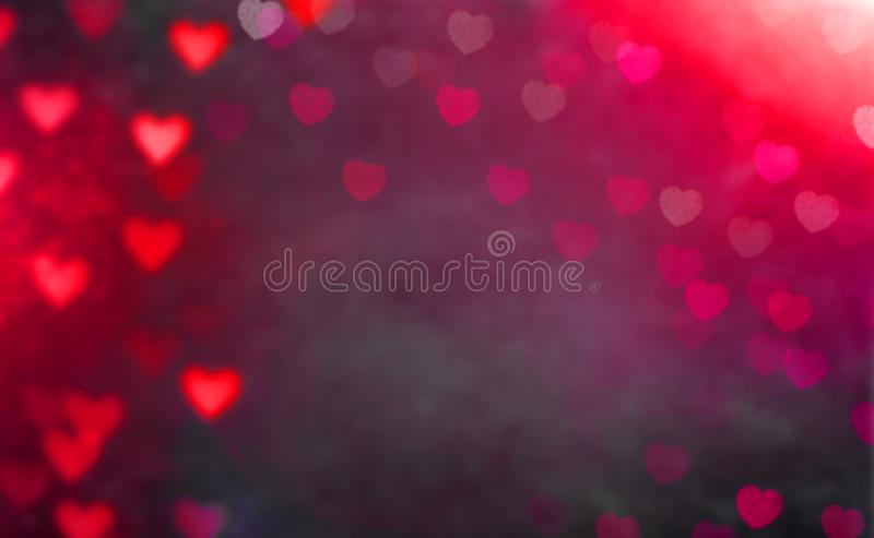 Greeting card with colorful heart in the background for Valentines Day stock photo