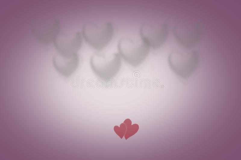 Greeting card with colorful heart in the background for Valentines Day royalty free stock images