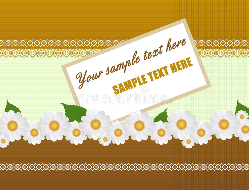 Greeting Card With Daisies Royalty Free Stock Image
