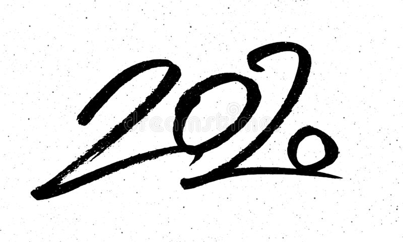 Calligraphy for 2020 New Year of the Rat stock illustration