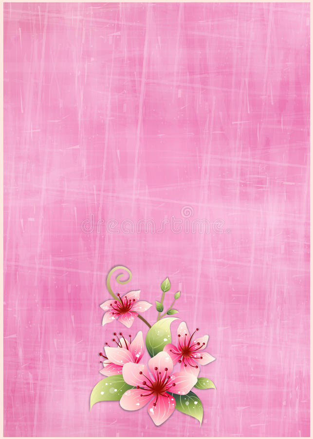 Download Floral Greeting Card stock illustration. Illustration of season - 30181526