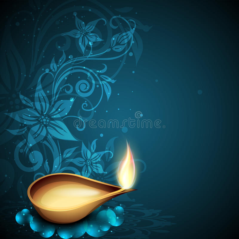 Greeting card for Diwali celebration stock illustration