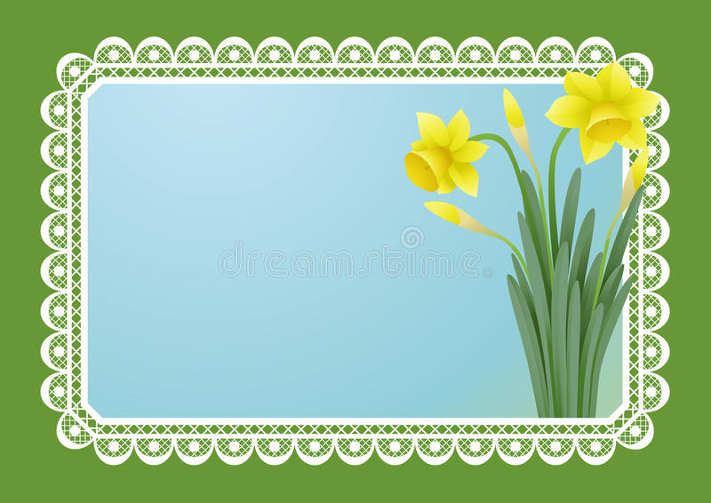 Download Greeting Card With Doffodils Stock Vector - Image: 18464227