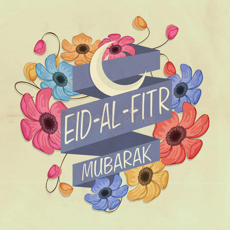 Top Festival Eid Al-Fitr Decorations - greeting-card-eid-al-fitr-festival-celebration-beautiful-flowers-decorated-ribbon-crescent-moon-stylish-text-islamic-56058822  Best Photo Reference_584852 .jpg