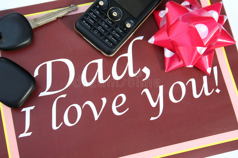 Greeting card for father royalty free stock photo