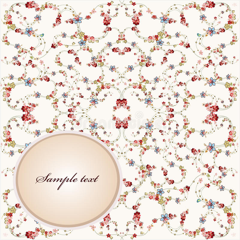 Download Greeting card with flower stock vector. Image of nature - 18931904
