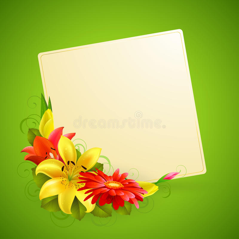 Download Greeting card with flower stock vector. Illustration of graphic - 19057255
