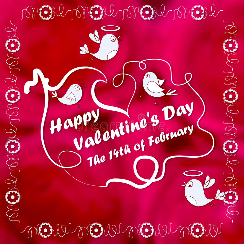 Download Greeting Card, Flowers. Cartoon. Doodle Style, Lovely Image. For  Valentineu0027s