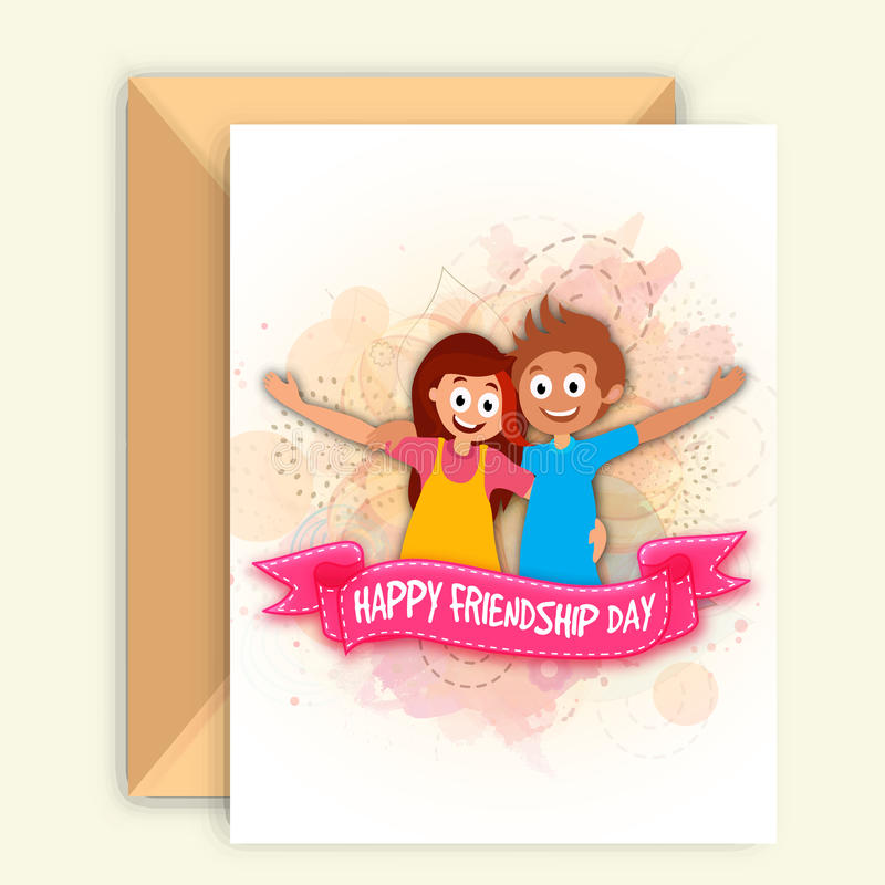 Greeting card for friendship day celebration stock illustration download greeting card for friendship day celebration stock illustration illustration of abstract gift m4hsunfo