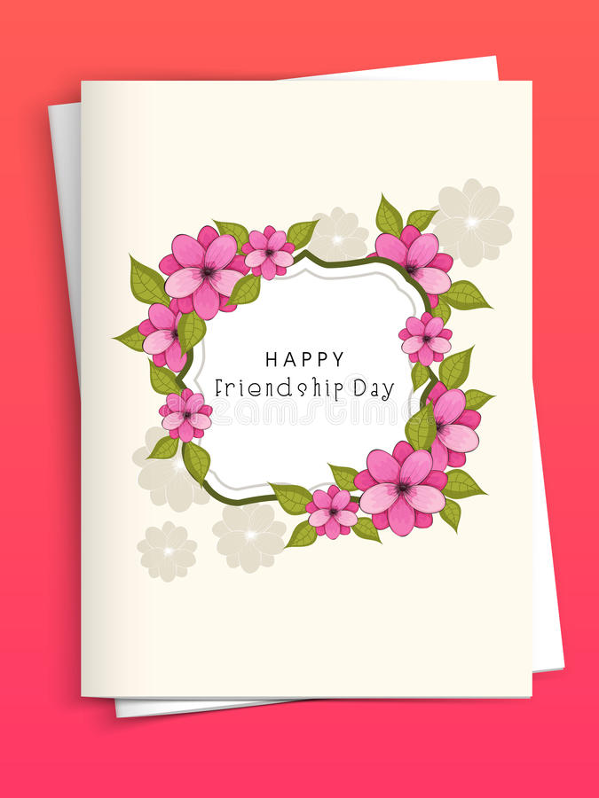 Greeting card for friendship day stock illustration illustration download greeting card for friendship day stock illustration illustration of happiness help m4hsunfo
