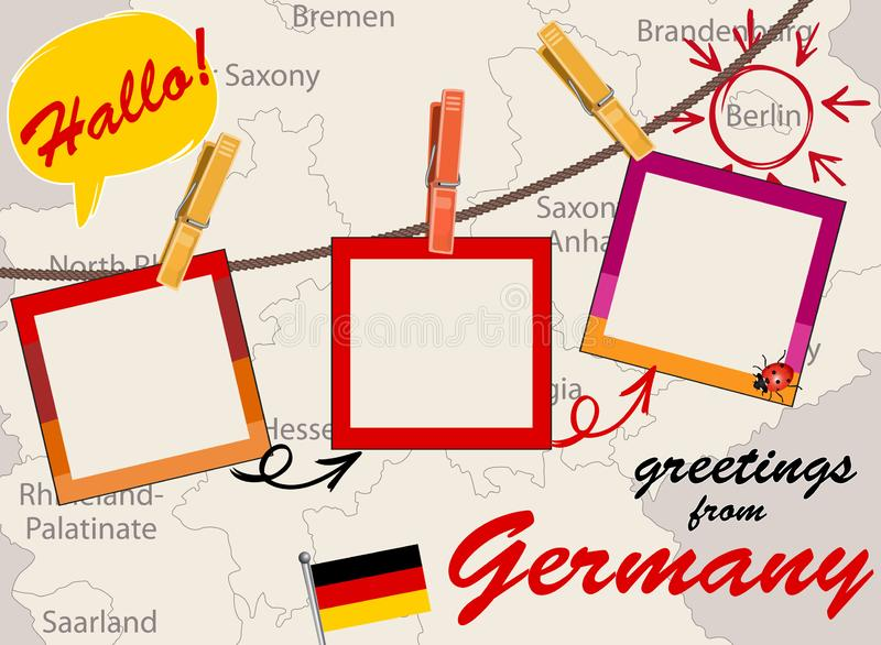 Greeting card with Germany stock photo