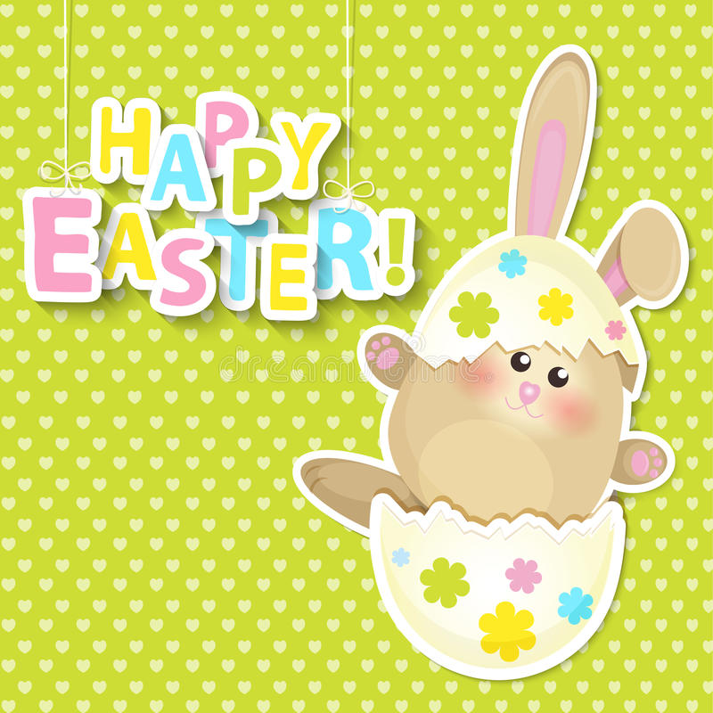 Greeting card for happy easter. vector illustration