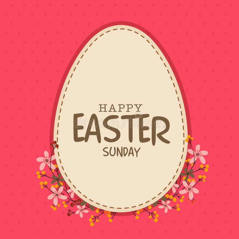 Greeting card for Happy Easter celebration. vector illustration