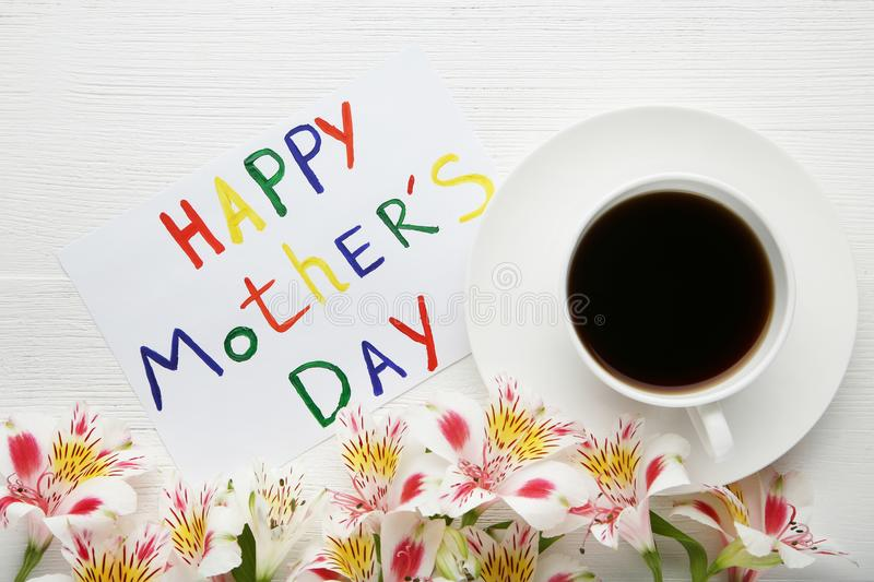 Greeting card Happy Mothers Day stock images