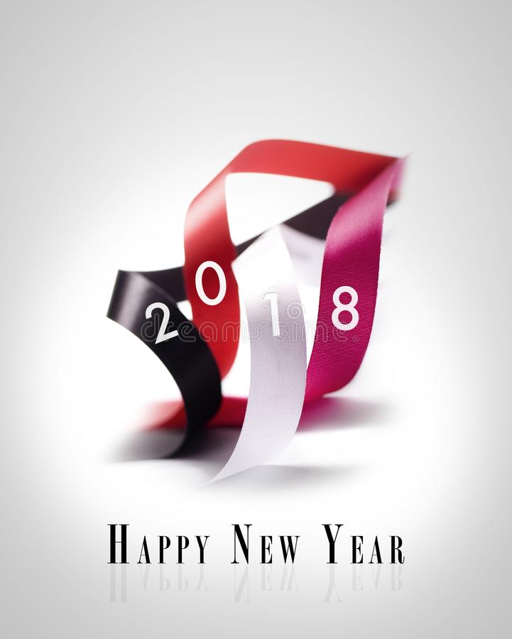 Happy New Year 2018 stock photos