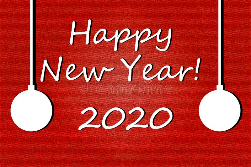 Greeting Card. Happy New Year 2020. royalty free stock photos