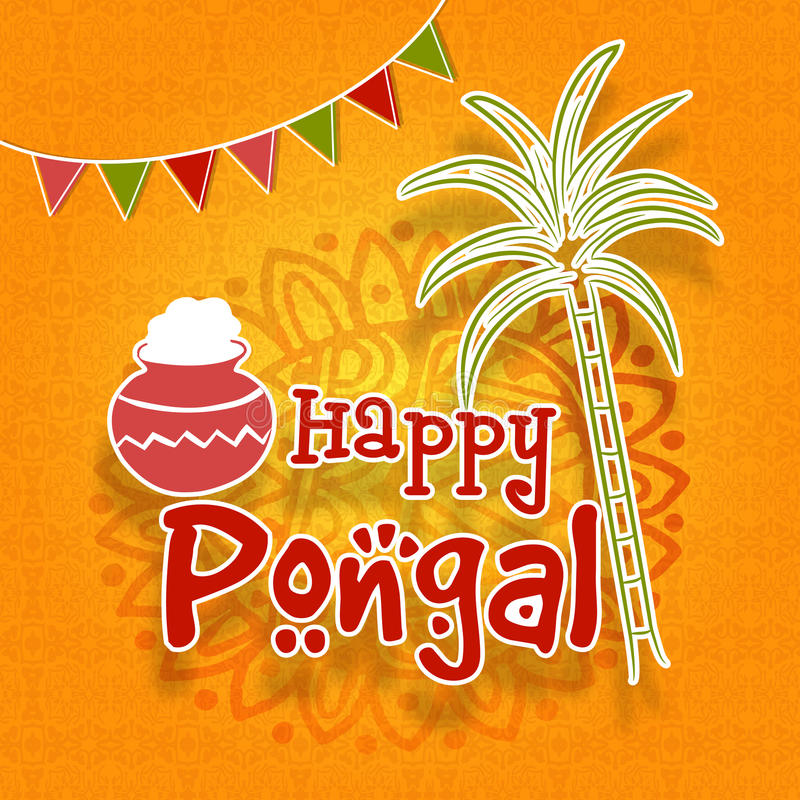 Greeting card for happy pongal celebration stock illustration download greeting card for happy pongal celebration stock illustration illustration of elegant agriculture m4hsunfo