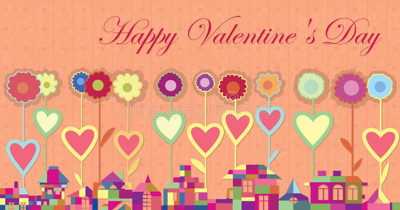 Download Greeting Card Happy Valentines Day Stock Vector - Illustration: 28256791