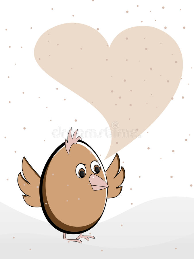 Download Greeting Card Heaving A Bird With Copy Space. Stock Vector - Image: 22826533