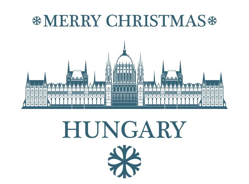 Greeting Card Hungary. Vector Illustration. illustration EPS royalty free illustration