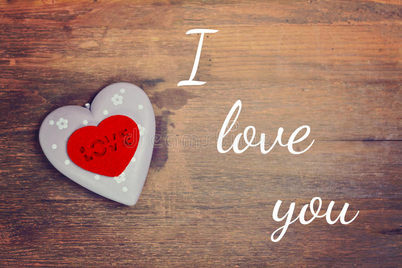 Greeting card i love you royalty free stock image