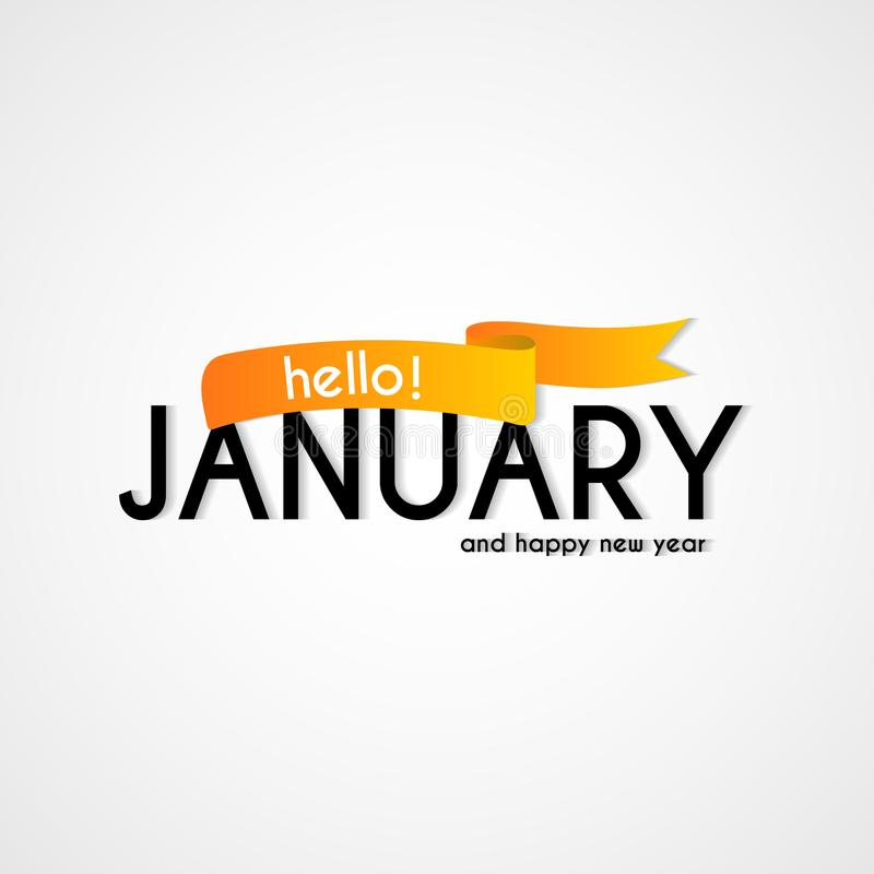 Happy new month january background design stock illustration download happy new month january background design stock illustration illustration of color ribbon m4hsunfo