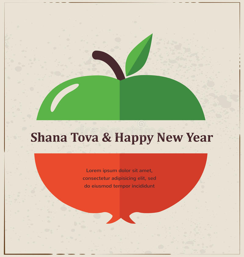 Greeting card for jewish new year rosh hashana with traditional download greeting card for jewish new year rosh hashana with traditional fruits stock illustration m4hsunfo