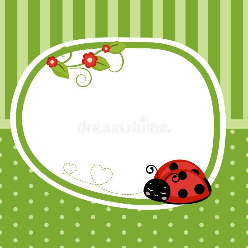 Greeting card with ladybug. royalty free illustration