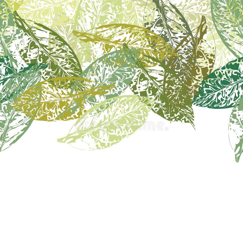 Greeting card with leaf royalty free stock photography