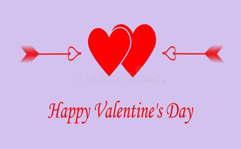 Greeting_card_ 'lyckliga valentin dag ', stock illustrationer