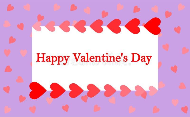 Greeting_card_ 'lyckliga valentin dag ', royaltyfri illustrationer