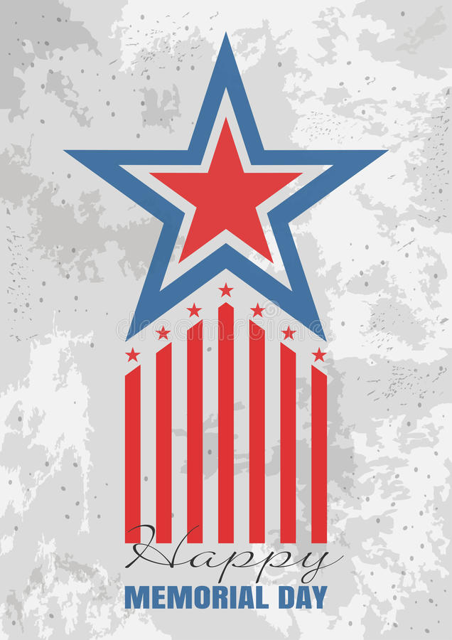 Greeting card for Memorial Day stock illustration